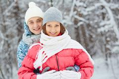 Winter romance - stock photo