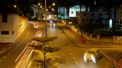 4K. Stream of traffic at night road Stock Footage