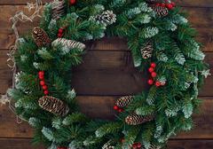 Conifer wreath Stock Photos