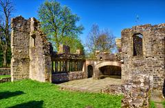 Ruins of Wycoller Hall. - stock photo