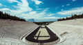 4K  Panathenaic Stadium Athens,wide timelapse overview,blue sky and clouds 4k or 4k+ Resolution