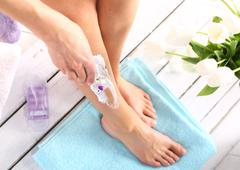 Hair Removal, woman goals legs - stock photo