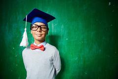 Intelligent graduate Stock Photos