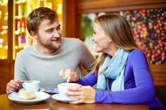 Teatime conversation - stock photo