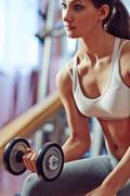 Weight training - stock photo