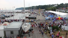 Mass event in Gdynia Poland Stock Footage