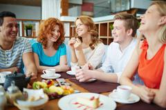 Dinning with friends - stock photo