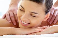 Pleasant massage - stock photo