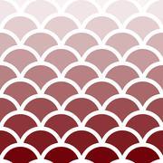 Traditional Seigaiha Japanese seamless wave pattern - stock illustration