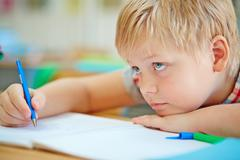 Attentive pupil Stock Photos
