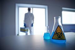 Biohazard liquid - stock photo