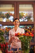 Flower vendor Stock Photos