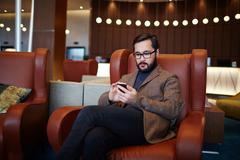 Modern businessman - stock photo
