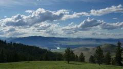 Flathead River, Montana, Clouds, Time Lapse Stock Footage