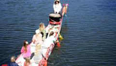 Group canoeing, gallium ride 01 Stock Footage