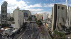 Aerial View of Avenue 23 May, Sao Paulo, Brazil Stock Footage