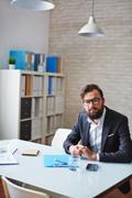 Elegant office worker Stock Photos