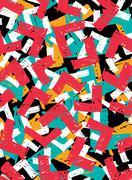 Abstract grunge hipster pattern design Stock Illustration