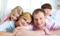 Restful family - stock photo