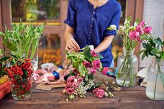 Design of bouquets - stock photo