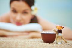 Aromatherapy essences - stock photo