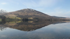 Reflections in Loch Earn Scotland Stock Footage