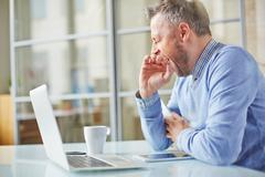 Tired or bored - stock photo