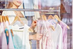 Assortment of blouses Stock Photos