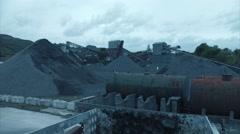 Wide Slider shot Quarry Grounds Stock Footage