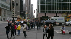 crowded crossroads 4k - stock footage