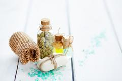 Objects for beauty spa Stock Photos
