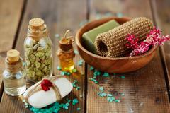 Everything for aromatherapy Stock Photos