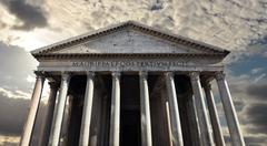 Pantheon, Roman temple to the gods of ancient Rome - stock photo