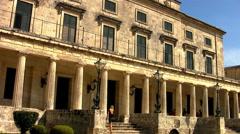 Royal Palace Corfu, Greece. Stock Footage