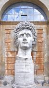 Statue of Roman Emperor Gaius Julius Caesar Augustus - stock photo
