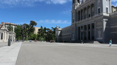 Square of Almudena Church, Cathedral of Madrid, Time Lapse, Spain Stock Footage
