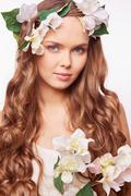 Curly beauty Stock Photos