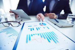 Analysis of market - stock photo