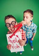 April fish Stock Photos