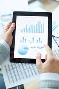Explanation of statistics Stock Photos