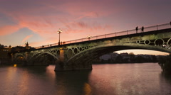 Triana Bridge Stock Footage