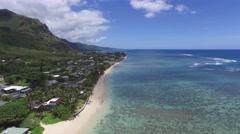 Kaaawa, Beach, Windward, Oahu, Hawaii Stock Footage