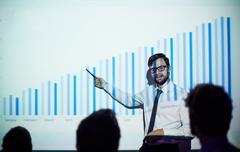 Teaching economics Stock Photos