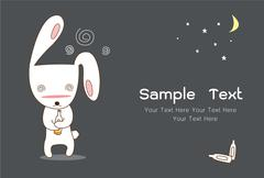 Cute rabbit Stock Illustration