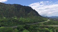 Koolau, Mountains, Oahu, Hawaii Stock Footage