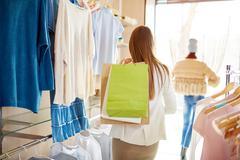 Shopper in boutique Stock Photos