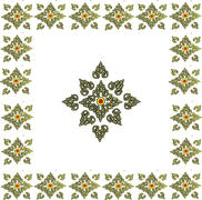 Wallpaper pattern Thailand - stock illustration
