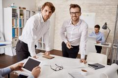 Young architects Stock Photos