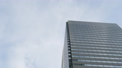 Office building and blue sky in Shinjuku district, Tokyo, Japan Stock Footage