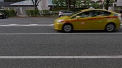 Car traffic in Shinjuku, Tokyo, Japan Stock Footage